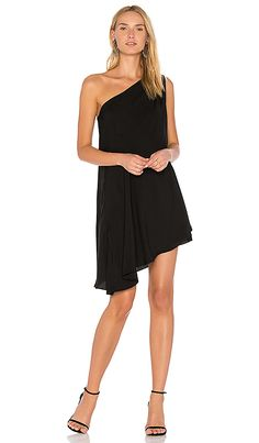 Online Ping For Bobi Black One Shoulder Dress From Top See New Offer Vanessa Cagno Nye Wedding Guest