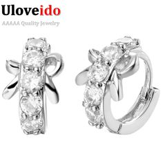 Find More Stud Earrings Information about Free Shipping Platinum/Rose Gold Plated Statement Bowknot Stud Vintage Earrings CZ Zircon Simulated Diamond Crystal Earring R317,High Quality earrings twist,China earring designs to make Suppliers, Cheap earring shop from ULOVE Fashion Jewelry on Aliexpress.com