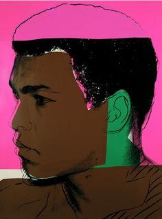 """ArtG243. """"Muhammad Ali"""" by Andy Warhol / Serigrafia y Acrílico sobre lienzo / 1977"""