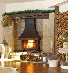 someday with a fireplace like this