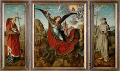 Altarpiece of Saint Michael / Retablo de San Miguel Arcángel / Michaelsaltar // circa 1510 // Gerard David // Kunsthistorisches Museum, Vienna // Saint Jerome and Saint Anthony of Padua