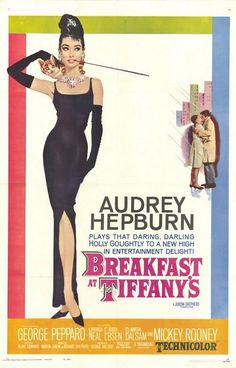 Breakfast at Tiffany's is a 1961 romantic comedy film starring Audrey Hepburn and George Peppard, directed by Blake Edwards and released by Paramount Pictures. Best Movie Posters, Classic Movie Posters, Original Movie Posters, Film Posters, Classic Movies, Original Song, Buy Posters, Cinema Posters, George Peppard