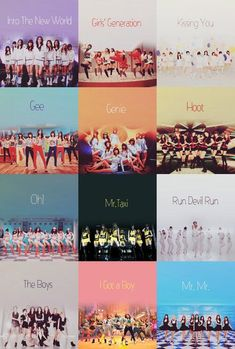 SNSD comebacks + lion heart and sailing (maybe more that I don't know)
