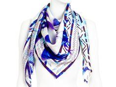 Blue & Purple Silk Scarf| JUMA