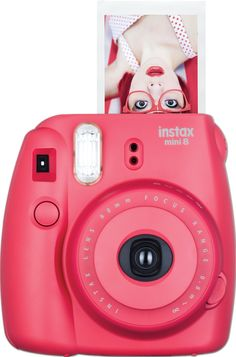 Amazon.com : Fujifilm Instax Mini 8 Instant Film Camera (Pink) : Polaroid Camera : Camera & Photo