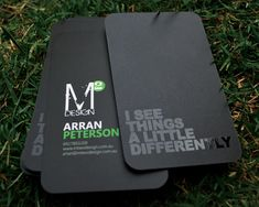 Unique Business Card, M2 Design #businesscards #design (http://www.pinterest.com/aldenchong/)