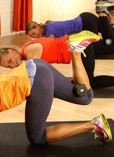 10-Minute Tush-Toning Pilates Workout - Take 10 minutes out of your day to lift your seat! This tush-toning workout from Hayden Panettiere's Pilates instructor, Heather Dorak, will sculpt and tone your backside. Grab a light weight — three to five pounds — and get ready to feel the burn.