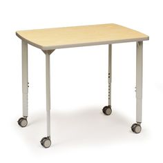 EXPLORE® 4-Leg Activity Table Rectangle with Casters & Flat Sides