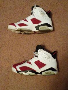 Nike Air Jordan Retro VI 6 White Red Black Carmine Size 9  Nike   BasketballShoes 8164dfc901aa6