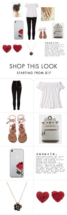 """Kanon's Outfit"" by lyonslove on Polyvore featuring River Island, Hollister Co. and Pusheen"
