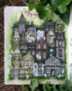 The greeny cottage  Open to the public from March to September ☺ Super inspired by the lovely and talented @colouringfordexy and her way to use watercolor on houses   #coloriage #coloring #colouring #coloriagepouradulte #adultcoloring #adultcolouring #coloringbook #målarbok #arttherapy #pen #gelpen #stabilo #stabilo68 #stabilo88 #fabercastell #fabercastellpitt #watercolor #aquarelle #winsorandnewton #cottage #daydreams #dagdrömmar #hannakarlzon