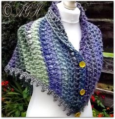 Dawn Treble Mesh Shawl By AG Handmades - Free Crochet Pattern - (aghandmades.blogspot)