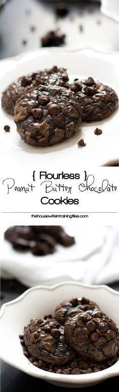 Flourless Peanut Butter Cookies, Chocolate, Healthy, Best, Easy, Chewy, Baking, Eggs, Simple. Gluten Free, Clean Eating