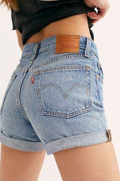 Levi's 501 Long Denim Shorts - Shorts - Denims - Levis - Jeans - Free PeopleYou can find Denim shorts and more on our website.Levi's 501 Long Denim Shorts - Shorts - D. Levis Jeans, Black Bootcut Jeans, Levis 501, Camo Jeans, Grey Jeans, Black Jean Shorts, Levis Womens Shorts, Levi 501 Shorts, Skinny Jeans
