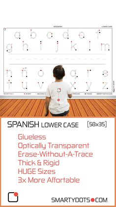 Alphabet   Spanish Lower Case (58x35)