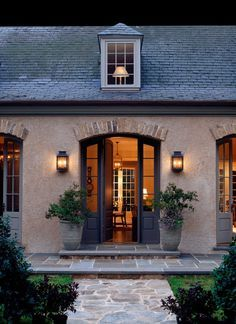 french country homes exterior entreyway stucco homes house renovation Donald Lococo residential architects washington dc