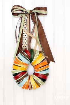 Autumn Market - Mason Jar Lid Wreath DIY Tutorial