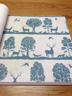 Woodland Scene Wallpaper by Voyage 'Country' Wall Art  - lots of colours available @ Cotton Tree Interiors UK (+44)1728 604700