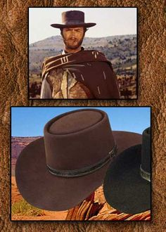ee6af5d1b95 Clint Eastrwood Spaghetti Western Outfit And Collection Western Hats