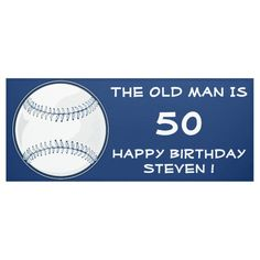 Shop Baseball Sport Funny Birthday Party Celebration Banner created by TLCGraphix. Sports Birthday, Funny Birthday, Birthday Party Celebration, Outdoor Banners, Sports Baseball, Word Out, Happy Birthday Banners, Outdoor Events
