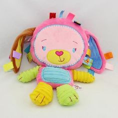 0M+ Soft Baby Soothe Mobile Toy Cartoon Animal Appease Doll with Early Educational Tags juguetes brinquedos