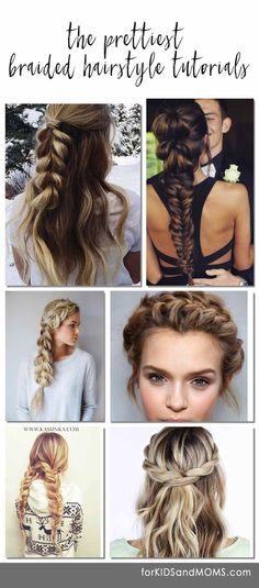 Pretty braided hairstyle tutorials, all the most pinned braid looks on Pinterest with a list of Youtube and blog tutorials to recreate these cute hairstyles for girls