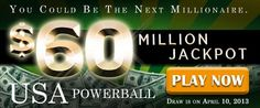 USA Powerball Rollover: US$ 60M Jackpot on April 10