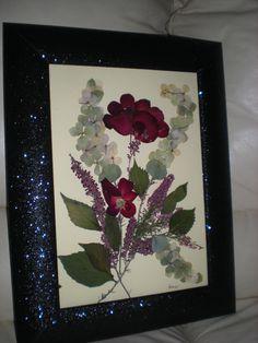 QUADRETTO   fiori pressati  wwww.riciclodelfiore.com