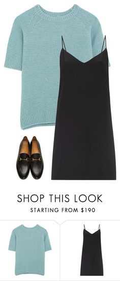 """Untitled #1182"" by h1234l on Polyvore featuring MaxMara, Raey and Gucci"