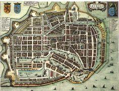 Blaeu Atlas: Enkhuizen ca 1662, Netherlands.