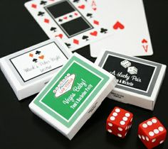 """""""A Lucky Pair"""" Vegas Themed Personalized Gum Boxes 