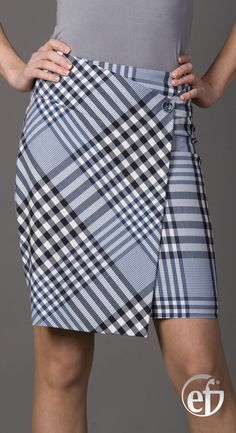 plaid skirt in black & gray Skirt Pants, Dress Skirt, Dress Up, Patron Vintage, Casual Outfits, Cute Outfits, Moda Chic, Plaid Fashion, Tuto Jupe