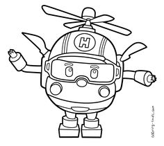 Robocar Poli coloring pages Helly for kids, printable free