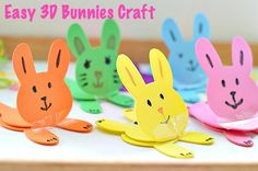 Simple 3D Bunny Craft with foam