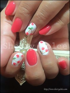 Pink Cherries #nail #nails #nailart