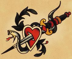 Heart And Dagger Sailor Jerry . is listed (or ranked) 1 on the list Sailor Jerry Tattoo Ideas Sailor Jerry Flash, Sailor Jerry Tattoos, Old Sailor Tattoos, Timeless Tattoo, Classic Tattoo, Traditional Tattoo Design, Traditional Tattoo Flash, Bodysuit Tattoos, Monami Frost