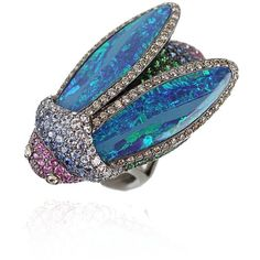 Wendy Yue Boulder Opal Scarab Ring - looks more like a cicada to me. Gorg either way.