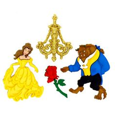 Jesse James - Disney - Buttons - Beauty and The Beast