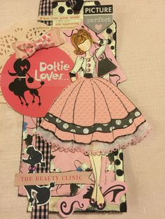 Julie Nutting stamp dolls Audrey with purse. Too cute