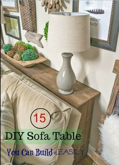 15 Inexpensive DIY Sofa Tables You Can Build Easily.