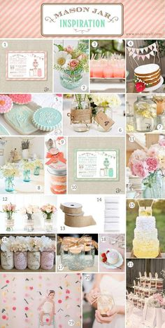 Mason Jar Inspiration Board with Craft and Party Ideas - Anders Ruff Custom Designs, LLC
