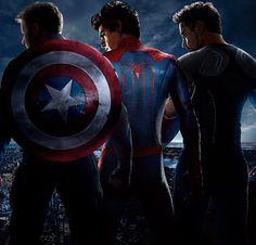Captain America (Steve Rogers) Spider Man (Peter Parker) Iron Man (Tony Stark)