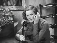 0 gif katharine hepburn on the candlestick phone
