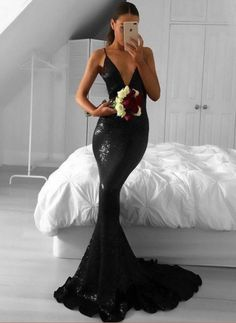 Mermaid V-Neck Prom Dress,Long Prom Dresses,Prom Dresses,Evening Dress, Prom Gowns, Formal Women Dress,prom dress