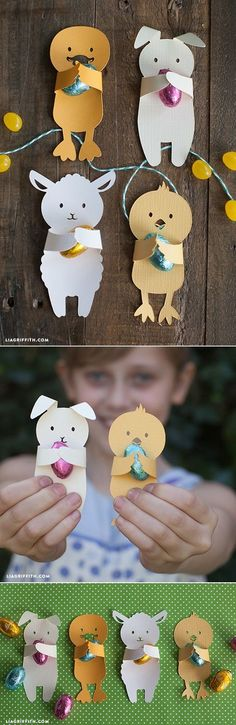 DIY Easter Candy Huggers is part of Easter crafts Candy - These DIY Easter candy huggers are the ultimate in cute Print and cut at home then have your kids hand them out in class as a cute Easter gift for friends Spring Crafts, Holiday Crafts, Holiday Fun, Kids Crafts, Easter Crafts, Easter Candy, Easter Eggs, Easter Projects, Diy Projects