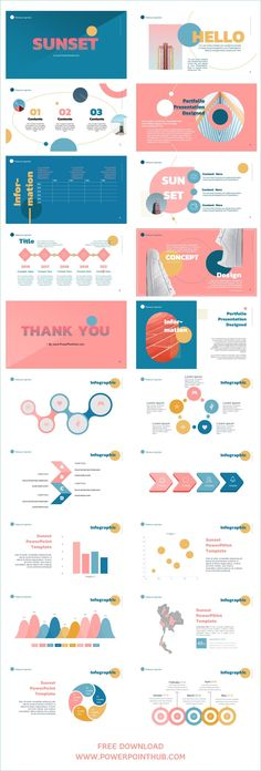 Dead End - Sunset PowerPoint Template – Powerpoint Templates – Ideas of Powerpoint Templates - # Ppt Design, Powerpoint Design Templates, Booklet Design, Design Layouts, Layout Template, Brochure Design, Flyer Template, Graphic Design, Free Powerpoint Templates Download