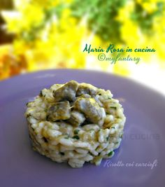RISOTTO COI CARCIOFI Risotto, Ethnic Recipes, Food, Dinner, Essen, Meals, Yemek, Eten
