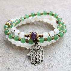 bracelets-calm-good-luck-and-healing-white-agate-and-aventurine-mala-bracelet-stack-with-hamsa-hand-1