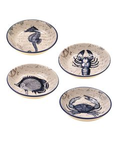 Another great find on #zulily! Coastal Postcards Soup & Pasta Bowl - Set of Four #zulilyfinds