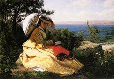 Jules Breton - La femme a l'ombrelle, 1871